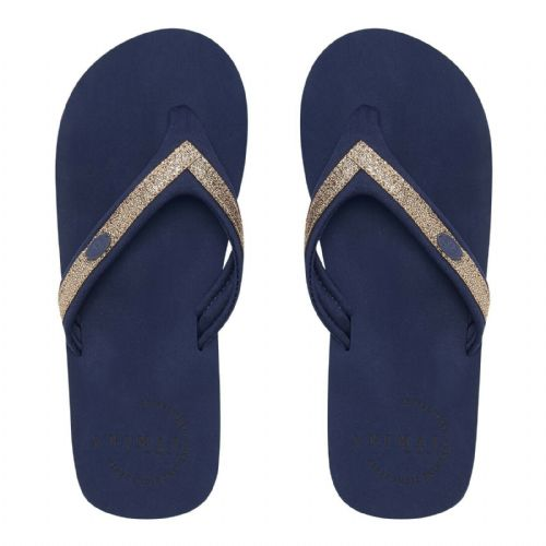 ANIMAL WOMENS FLIP FLOPS.SWISH SLIM SPARKLY NAVY SOFT TOE POST THONGS 9S 4/S69